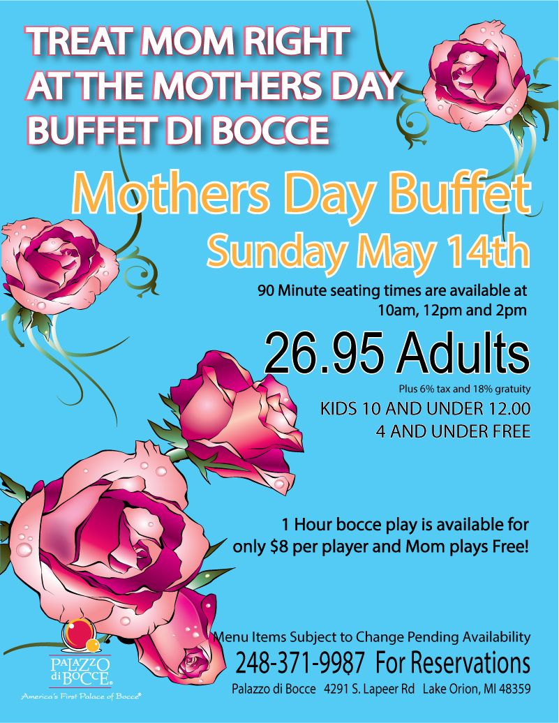 2017 mother's day buffet lake orion oakland county mi